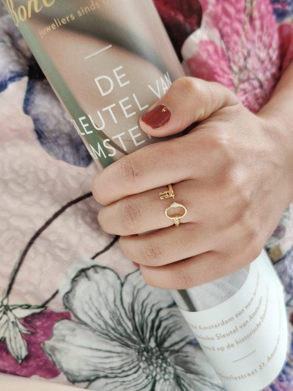 sleutel van amsterdam ring goud large