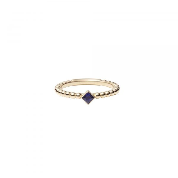 18 carat yellow gold ring Regalia little balls Sapphire