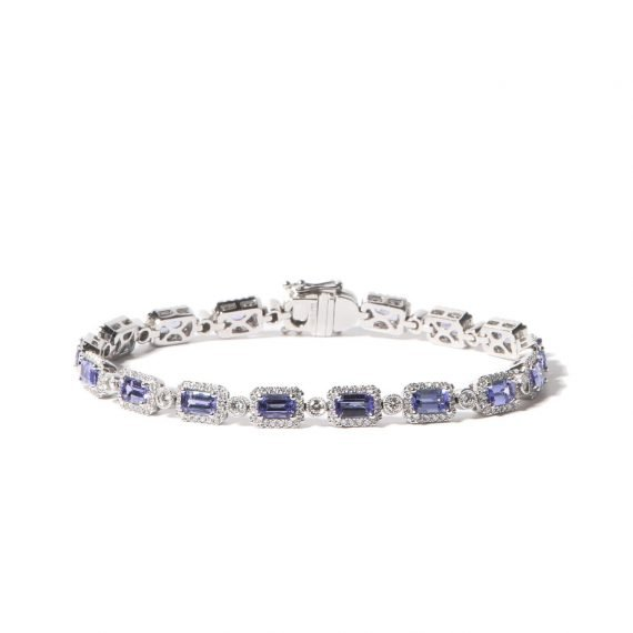 Bonebakker tanzaniet en diamant armband
