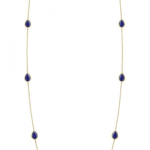 Necklace with Six Lapis Lazuli
