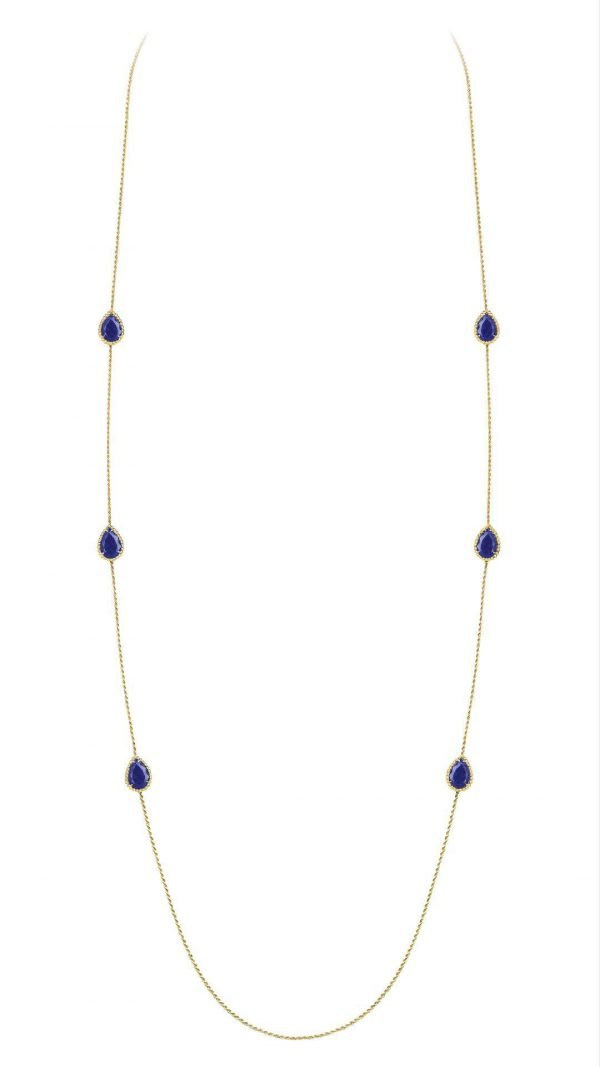 Necklace with Six Lapis Lazuli