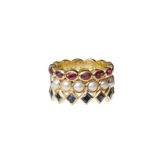 kroon RING ROOD WIT BLAUW