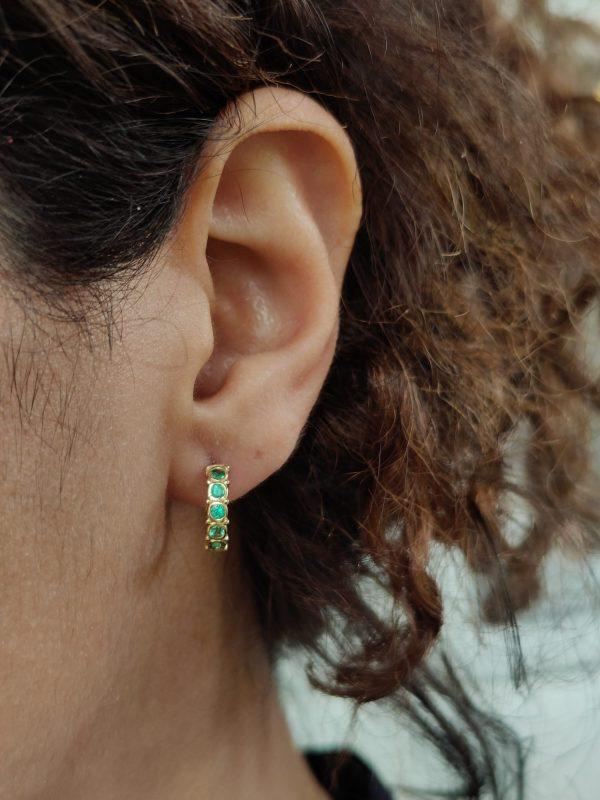 Regalia hoop earring emerald