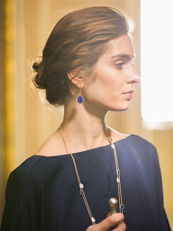 boucheron lapis necklace