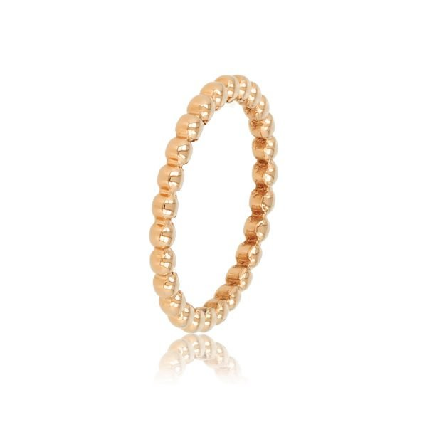 little ball ring pink gold
