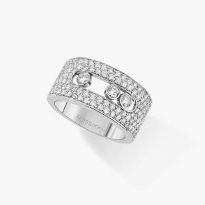 messika ring white gold move pave