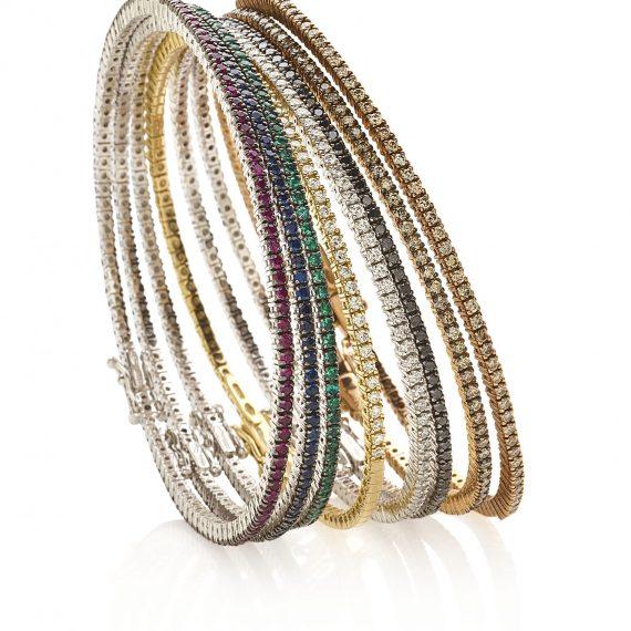 mini tennisbracelet gemstones and diamonds