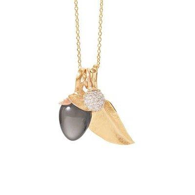 ole lynggaard pendant mini leaf gold