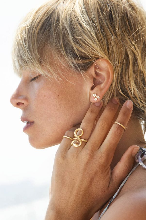 ole lynggaard shooting stars 3 earring
