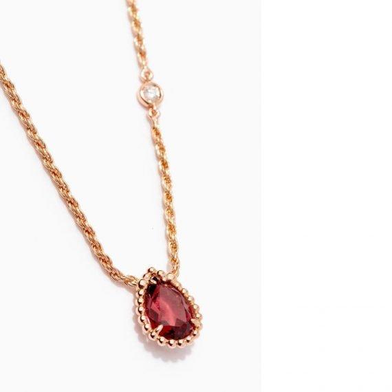 rhodolite necklace boucheron serpent boheme
