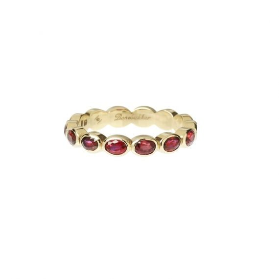 18 karat yellow gold Regalia eternity ring Ruby