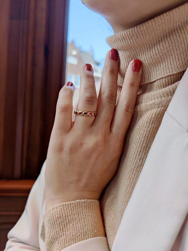 robijn diamant ringen