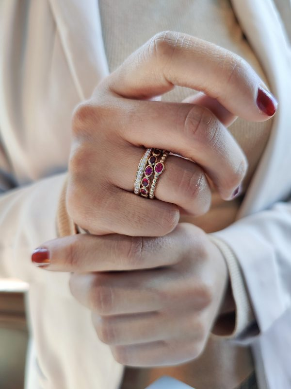 robijn diamant ringen geelgoud