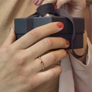 robijn ring geelgoud