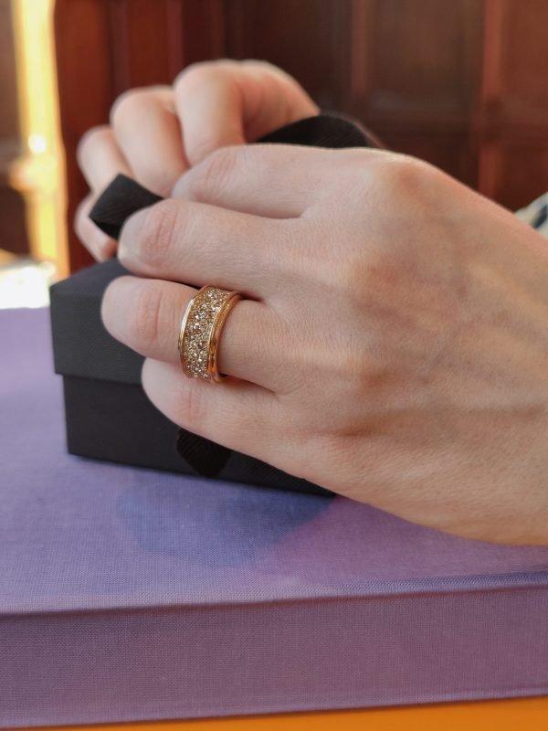 rosegouden band ring rose cut diamonds