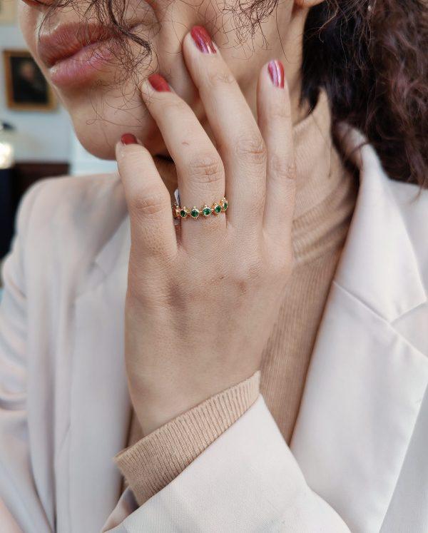 smaragd alliance ring